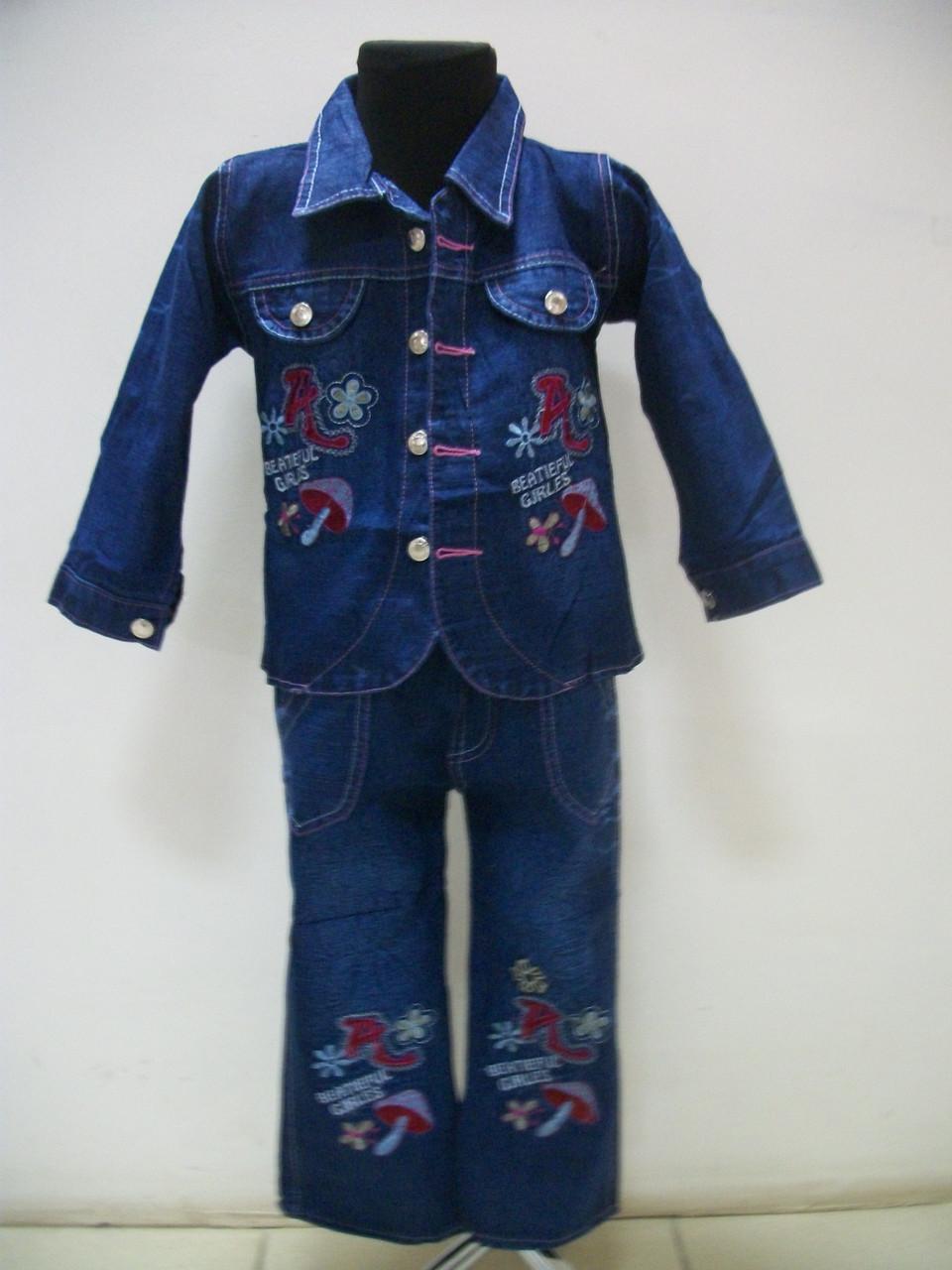 Джинсовый костюм для девочки Анюта