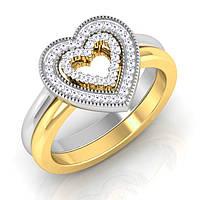Золотое кольцо с цирконием., фото 1