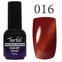 Гель-лак №016 CAT EYES (буряковий магнітний) 10 мл Tertio