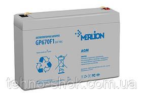 Аккумуляторная батарея MERLION AGM GP670F1 6 V 7Ah