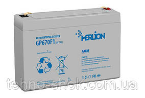 Акумуляторна батарея MERLION AGM GP670F1 6 V 7Ah