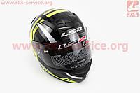 Шлем закрытый ROOKIE FF352 XL - ЧЕРНЫЙ с рисунком зелено-серым
