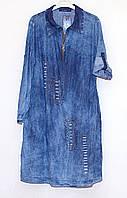 Джинсовое платье большой размер 614