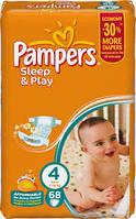 Подгузники Pampers sleep&play 4 68 шт. памперс слип энд плей