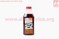 STIHL 2Т, масло 0,9л (дешёвое, бутылка прямоугольная)