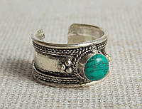 Кольцо ручной работы с бирюзой. Кольца с камнями