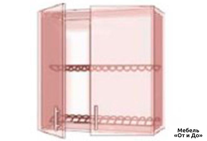 Модульная кухня Престиж Патина / Prestige Патина Верх 81 витрина-сушка