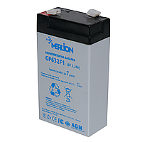 Акумуляторна батарея MERLION GP632F1 6 V 3,2 Ah