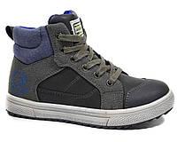 Детские демисезонные ботинки на мальчика С.ЛУЧ арт.E7837-3, grey-blue,33р