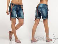 Шорты женские джинсовые, подтяжки в комплекте