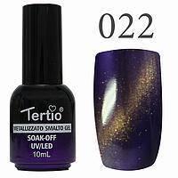 Гель-лак №022 CAT EYES (темно-фіолетовий магнітний) 10 мл Tertio
