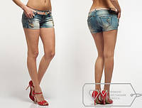 Шорты женские джинсовые с поясом в комплекте