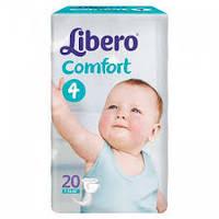 """Подгузники Libero  Comfort Fit """"4"""" Maxi 20 (7-14 кг) либеро комфорт"""