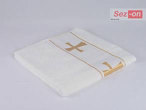 Банное крестильное полотенце 00008