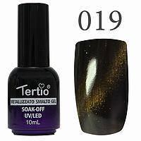 Гель-лак №019 CAT EYES (сіро-зелений магнітний) 10 мл Tertio