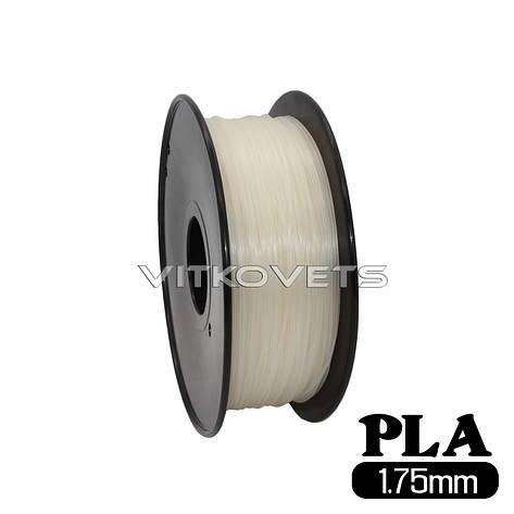 Пластиковая нить PLA, 1.75 мм, 1 кг (прозрачный), фото 2