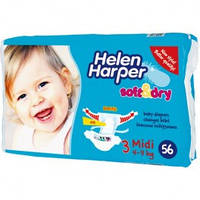 Подгузники Helen Harper (Хелен Харпер) Soft&Dry  3 (4-9 кг) 56 шт