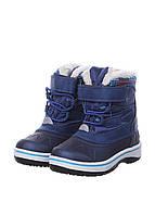 L11-290158, Детские водонепроницаемые сапоги, детская, синий-белый