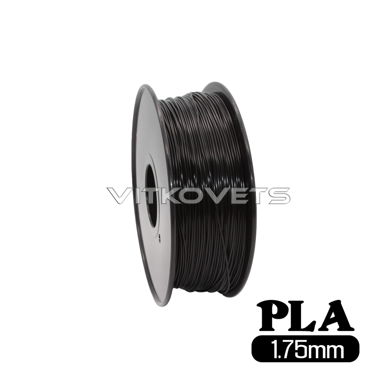 Пластиковая нить PLA, 1.75 мм, 1 кг (черный)