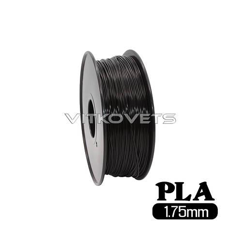 Пластиковая нить PLA, 1.75 мм, 1 кг (черный), фото 2