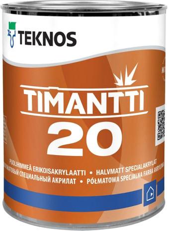 Водорозчинна фарба для стін та стелі Teknos Timantti 20, 0.9 л