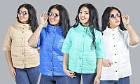 Стильная женская куртка Милан больших размеров 1525 ян мяты нет