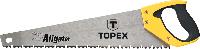 Ножовка по дереву Aligator, 450 мм, 7TPI, 10A446 Topex, фото 1