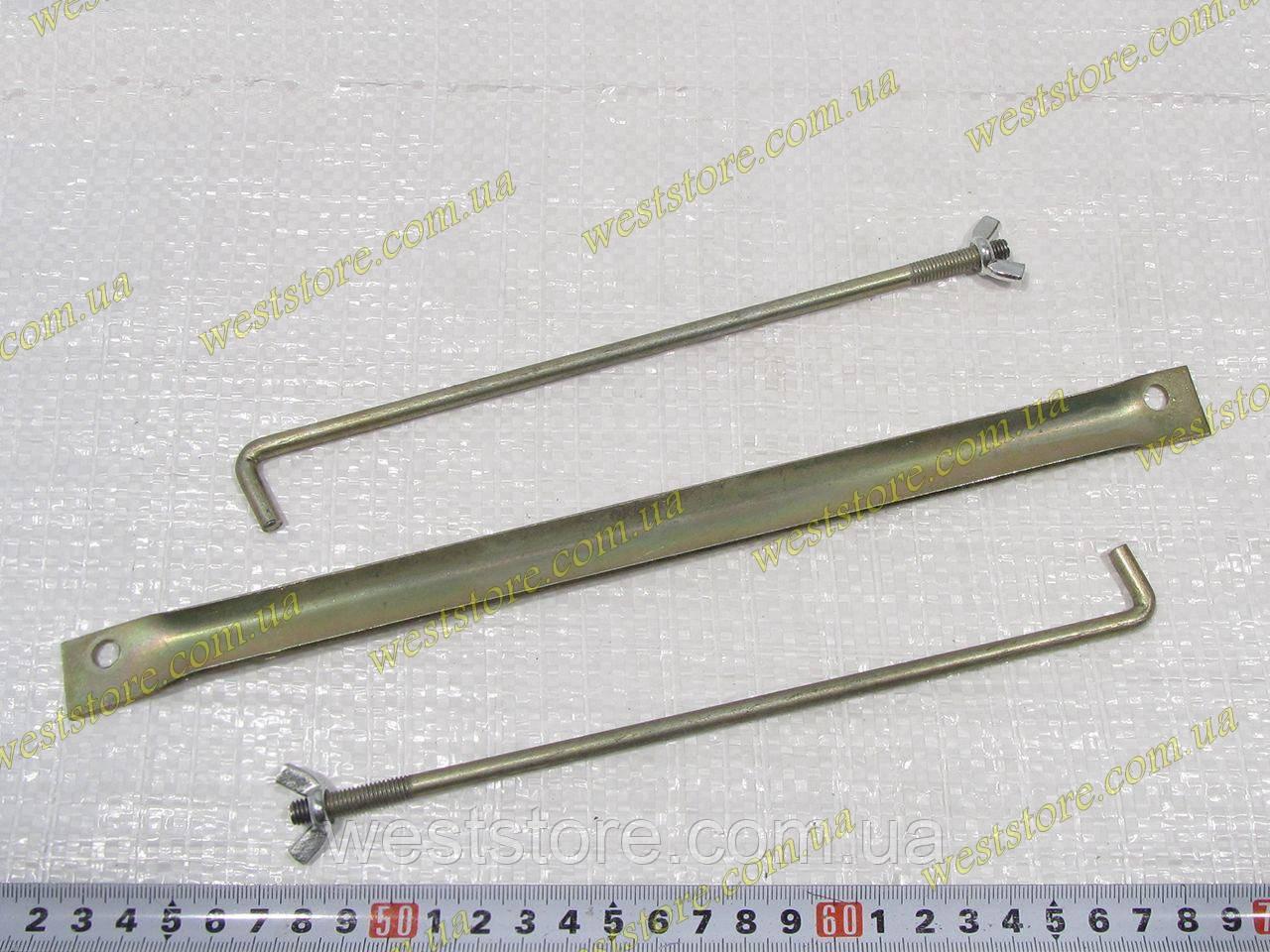 Крепление АКБ аккумулятора Ваз 2101 2102 2103 2104 2105 2106 2107 (планка+шпильки+барашки)