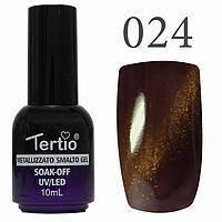 Гель-лак №024 CAT EYES (коричнево-бузковий) 10 мл Tertio