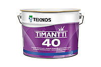 Водорозчинна фарба для стін та стелі Teknos Timantti 40, 2.7 л