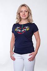 Женская футболка вышиванка черная, фото 3