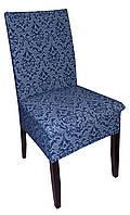 Чехол на стул Жаккардовый темно синий