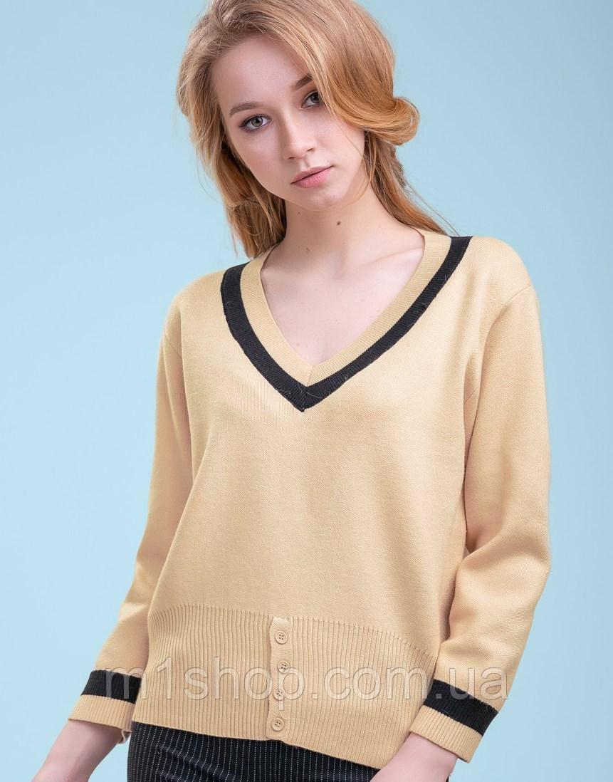Женский тонкий вязаный пуловер (3298 svt)