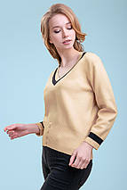 Женский тонкий вязаный пуловер (3298 svt), фото 3