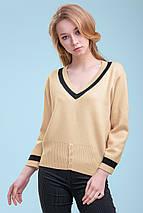 Женский тонкий вязаный пуловер (3298 svt), фото 2