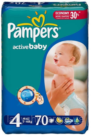 Купить Подгузники Pampers active baby 4 7-14 кг памперс актив беби ... 5db24870034