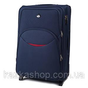 Тканевой чемодан Wings 1708 на 2 колеса, Польша, телескопическая ручка, металлический каркас