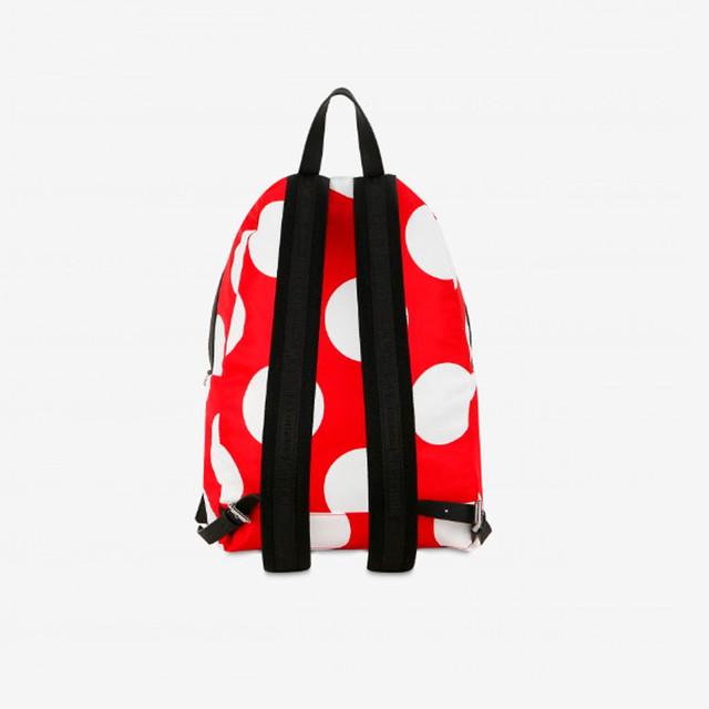 Нейлоновый рюкзак в горошек от Moschino | вид сзади