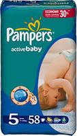 Подгузники Pampers active baby 5 (11-18 кг) 58 шт памперс актив беби драй