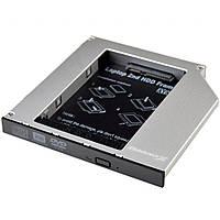 """Фрейм-переходник 2.5 """"Grand-X To notebook ODD 12.7 mm Silver"""