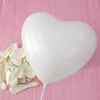 Воздушные шары в форме сердца, латексные белые