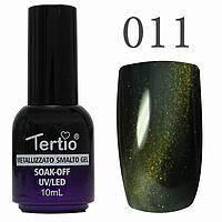 Гель-лак №011 CAT EYES (темно-зелений магнітний) 10 мл Tertio