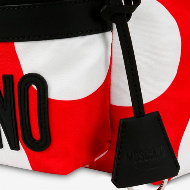 Нейлоновый рюкзак в горошек от Moschino | увеличенное фото деталей