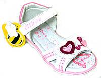 Детские кожаные босоножки для девочек c открытым носком Clibee Польша размеры 20-25