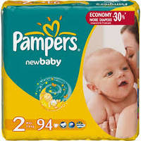Подгузники Pampers New baby - dry 2 (3-6 кг) 94 шт памперс нью беби драй ньюборн