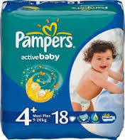 Подгузники Pampers active baby 4+ (9-16 кг) 18 шт памперс актив беби драй