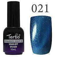 Гель-лак №021 CAT EYES (синій магнітний) 10 мл Tertio