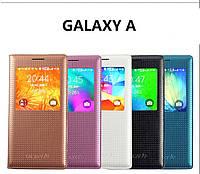 """Samsung A7 A700 GALAXY фирменный перфорированный чехол книжка S VIEW COVER для телефона """"S SMART"""""""