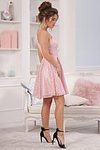 """Нарядное платье на одно плечо """"ЮНОНА"""" с гипюром и фигурным вырезом (3 цвета), фото 2"""