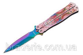 Нож бабочка 18-D дамский